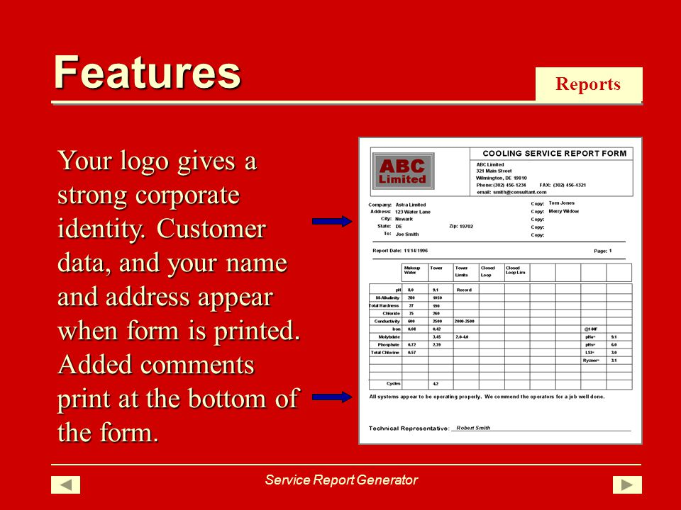 Reports Your logo gives a strong corporate identity.