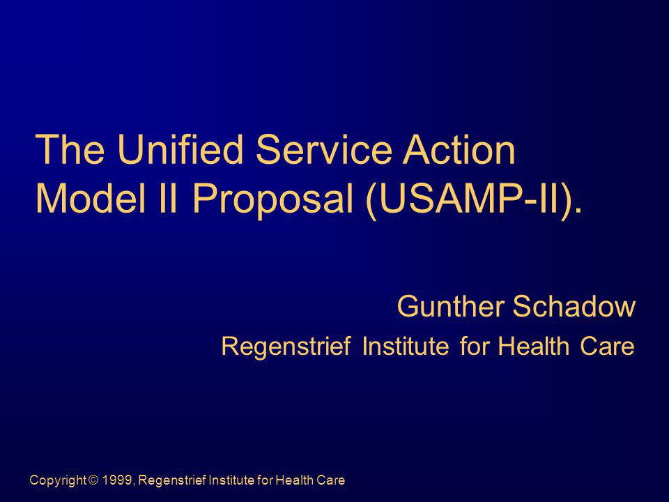 Copyright © 1999, Regenstrief Institute for Health Care The lumpers model...