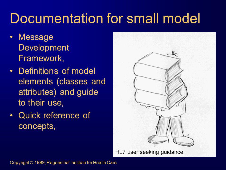 Copyright © 1999, Regenstrief Institute for Health Care Documentation for small model Message Development Framework, Definitions of model elements (cl