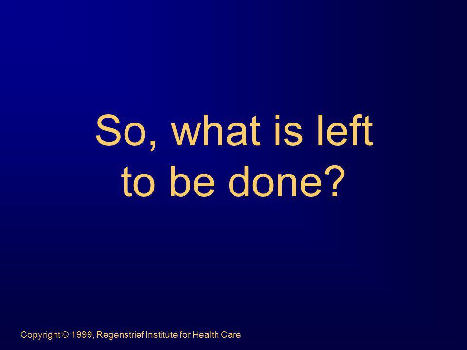 Copyright © 1999, Regenstrief Institute for Health Care 1 The Problem