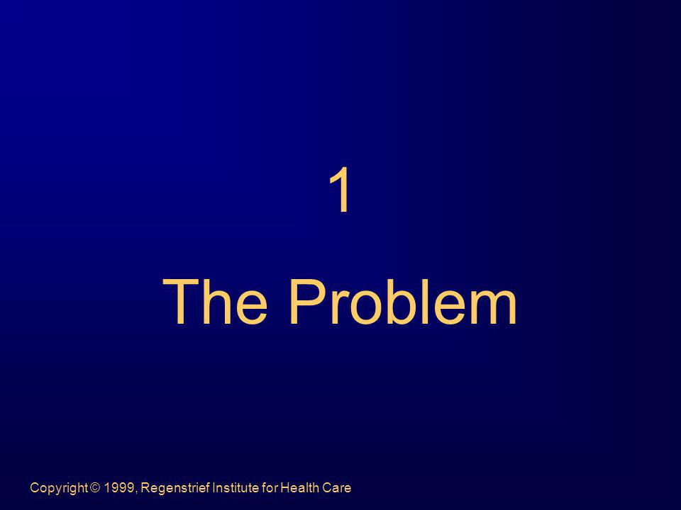Copyright © 1999, Regenstrief Institute for Health Care 1 The Problem
