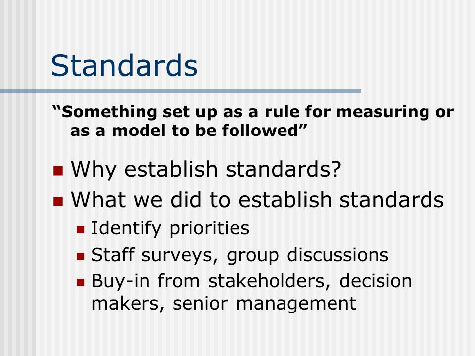 Standards - Examples Putting Good Service Into Action Pamphlet Operating Principles – The ART of Customer Service Customer Service Guidelines for the ITU Problem Solving Techniques