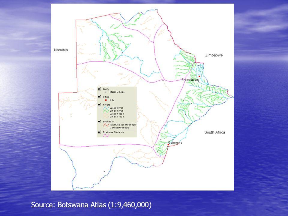 Source: Botswana Atlas (1:9,460,000)