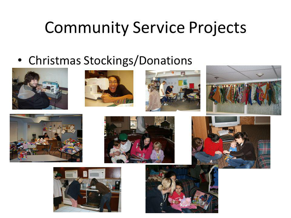 Community Service Projects Christmas Stockings/Donations