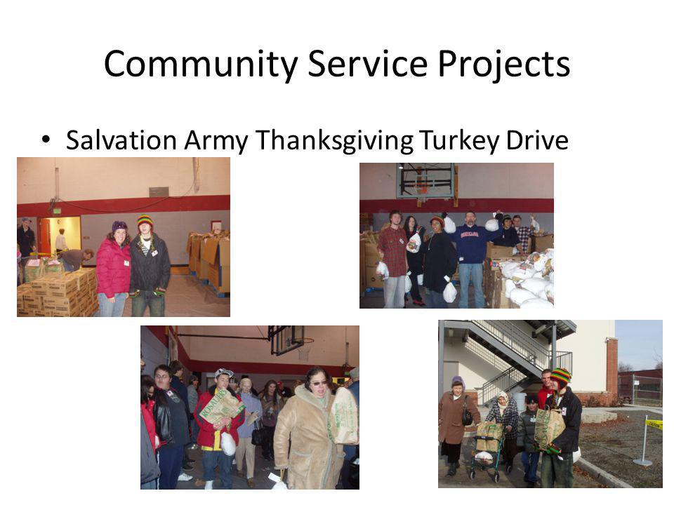 Community Service Projects Salvation Army Thanksgiving Turkey Drive