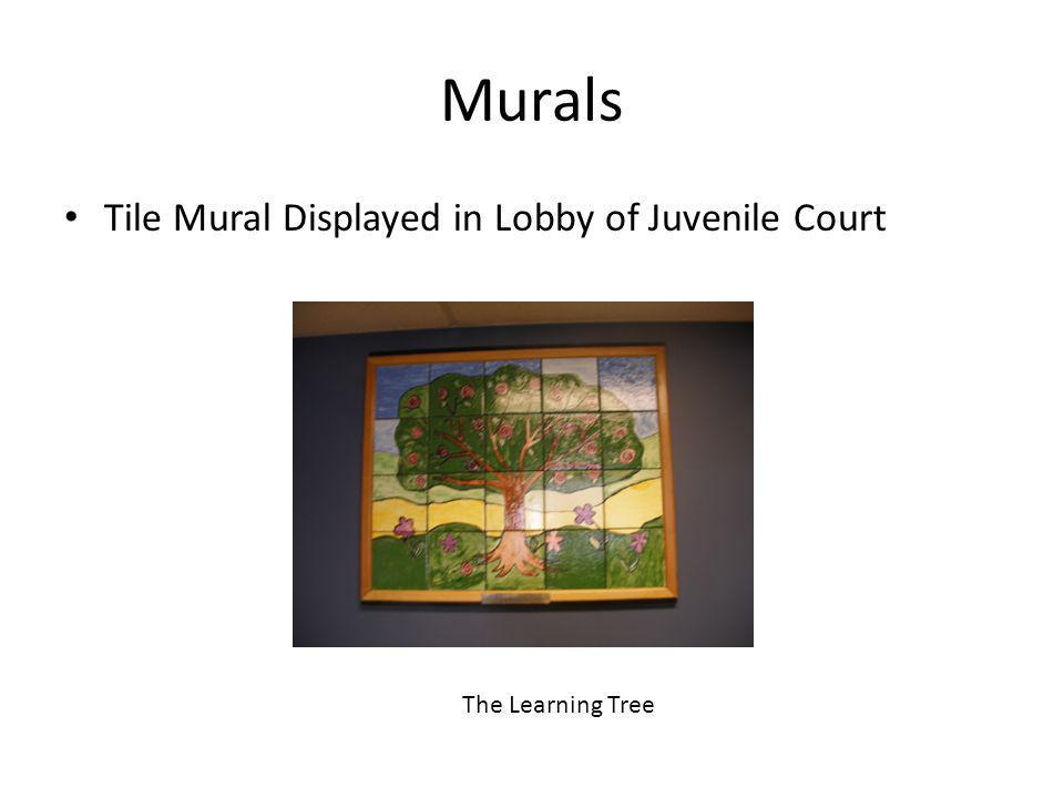 Murals Tile Mural Displayed in Lobby of Juvenile Court The Learning Tree