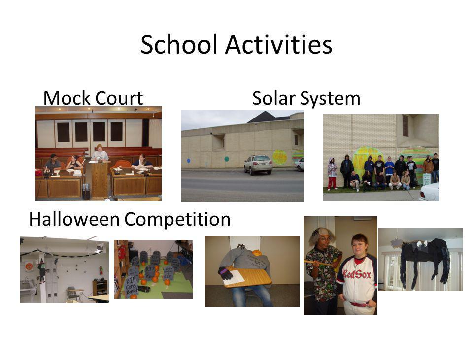School Activities Mock Court Solar System Halloween Competition