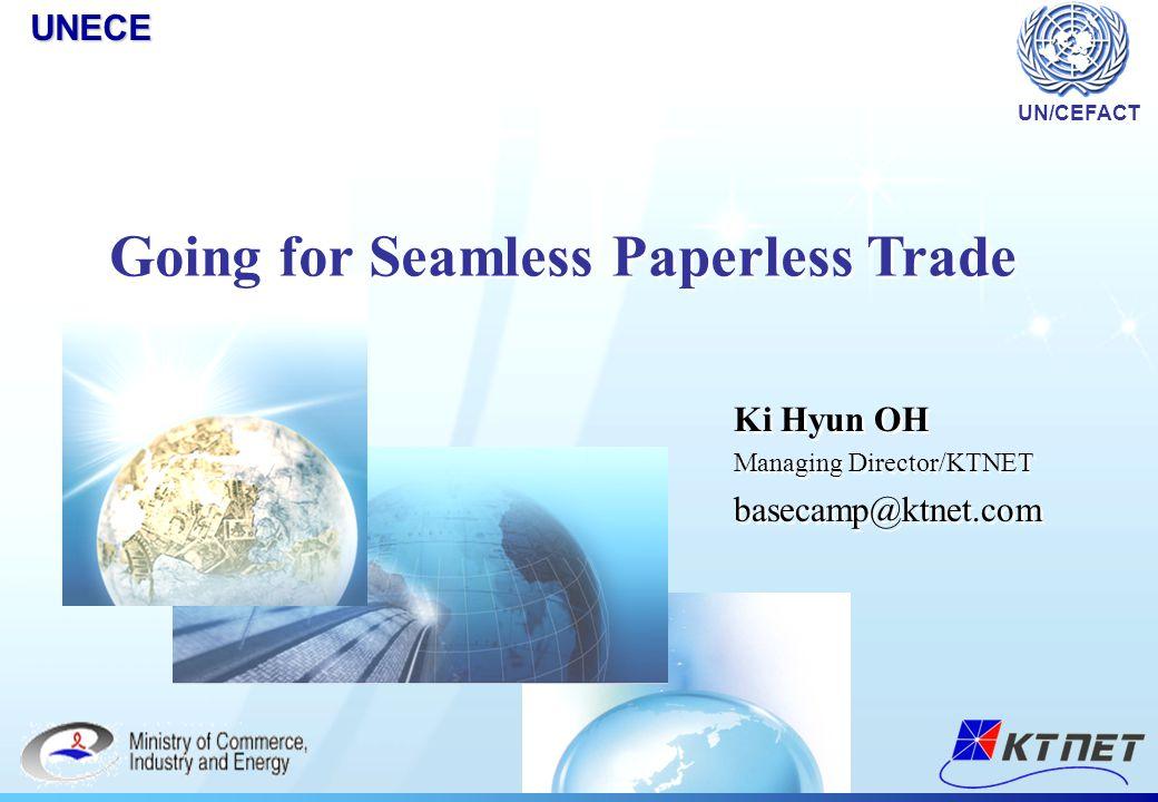 Ki Hyun OH Managing Director/KTNET basecamp@ktnet.com Ki Hyun OH Managing Director/KTNET basecamp@ktnet.comUNECE UN/CEFACT Going for Seamless Paperles
