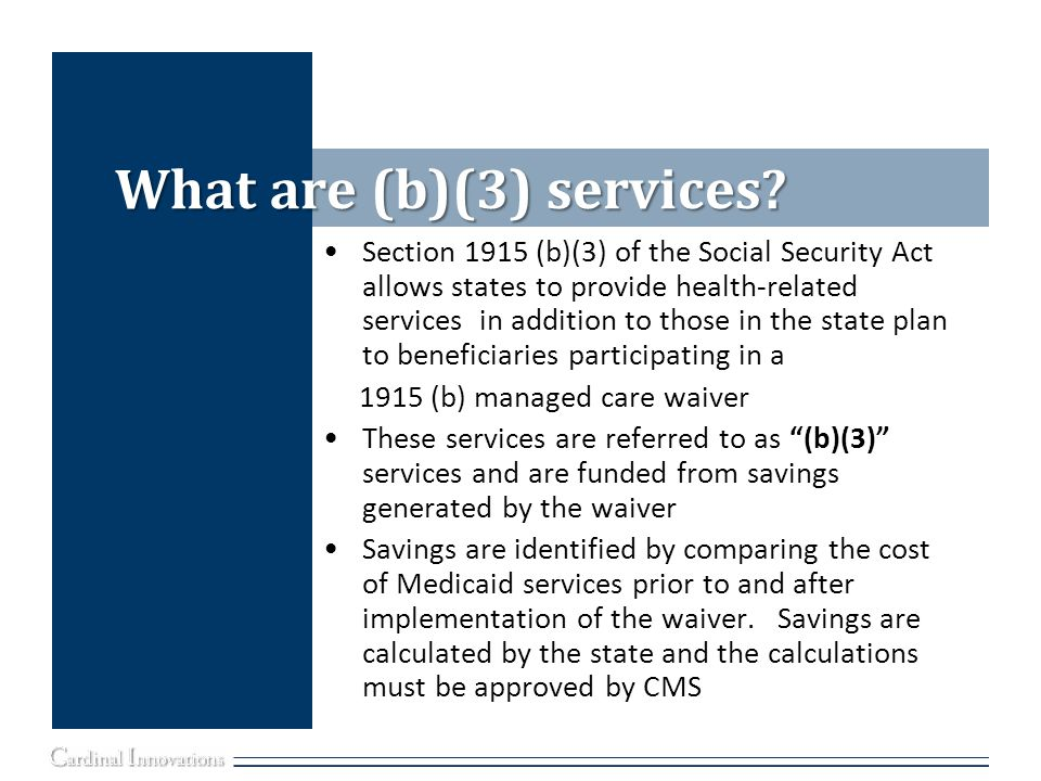 What are (b)(3) services.