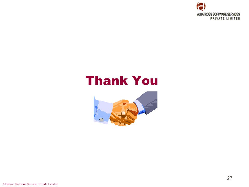 Albatross Software Services Private Limited 27 Thank You