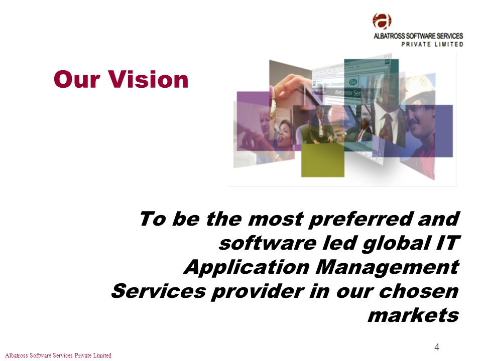 Albatross Software Services Private Limited 15 Our Offerings: Our Offerings: Cross-Media Solutions zThis service encompasses all phases of solutions enhancing communications between business and consumers: yPrinting (Publication, Catalogs, etc) yNetworking (Website Development, etc)