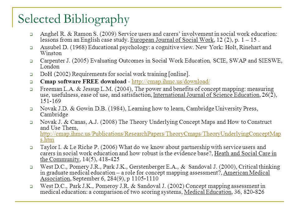 Selected Bibliography Anghel R. & Ramon S.