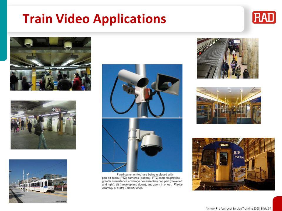 Airmux Professional Service Training 2013 Slide 24 Train Video Applications