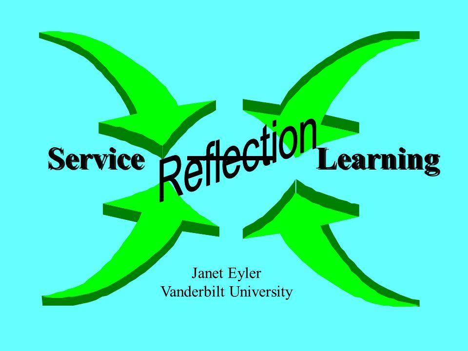 Service Learning Janet Eyler Vanderbilt University