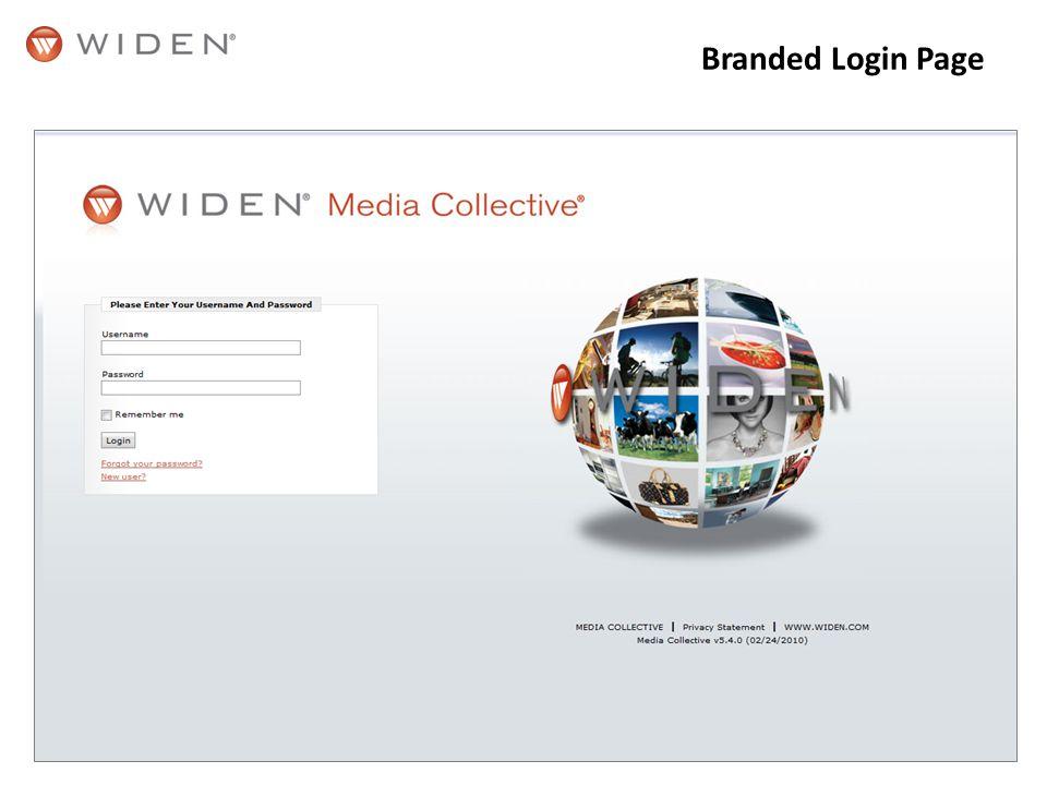 Branded Login Page