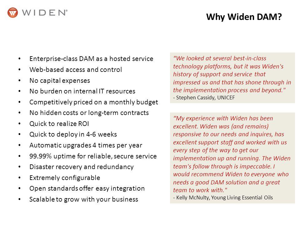 Why Widen DAM.