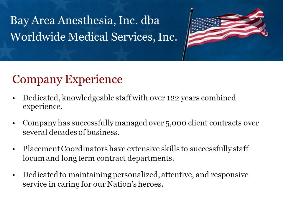 Dedicated, knowledgeable staff with over 122 years combined experience. Company has successfully managed over 5,000 client contracts over several deca