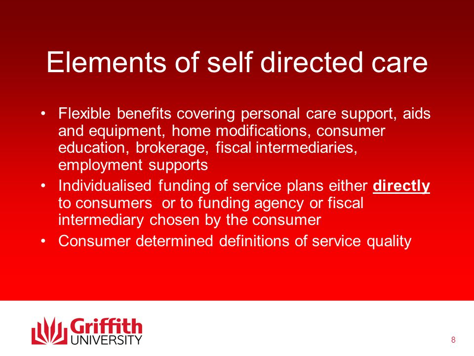 19 Implications & Concerns Having self directed care does not necessarily mean better supports Devolution of service administration tasks to service users and carers Direct payments as universal service delivery approach Need to view self directed care as means to a better life not the final goal - dream better!