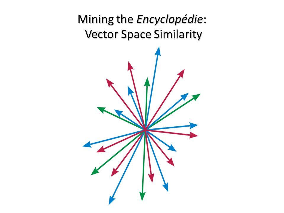 Mining the Encyclopédie: Vector Space Similarity