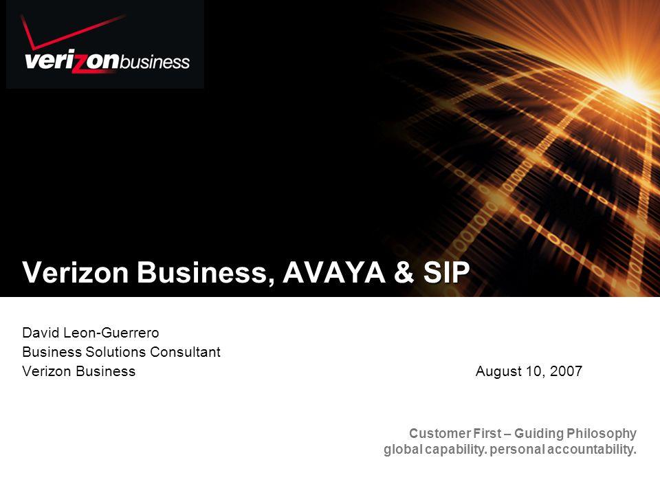 2 Content Verizon Who We Are How Does Verizon Apply SIP Verizon VoIP Offers Avaya and Verizon