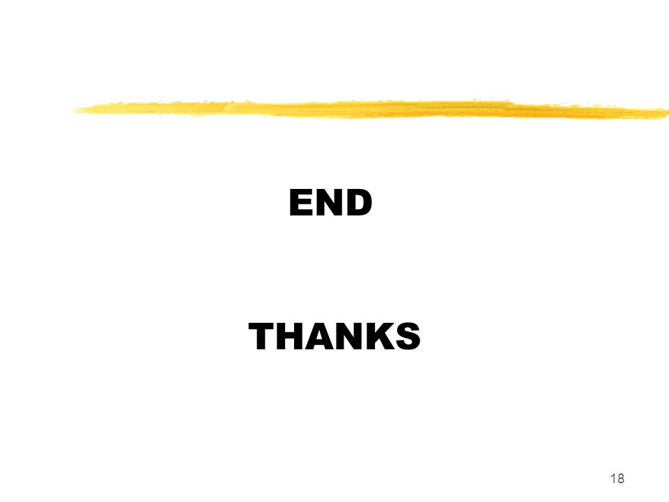 18 END THANKS