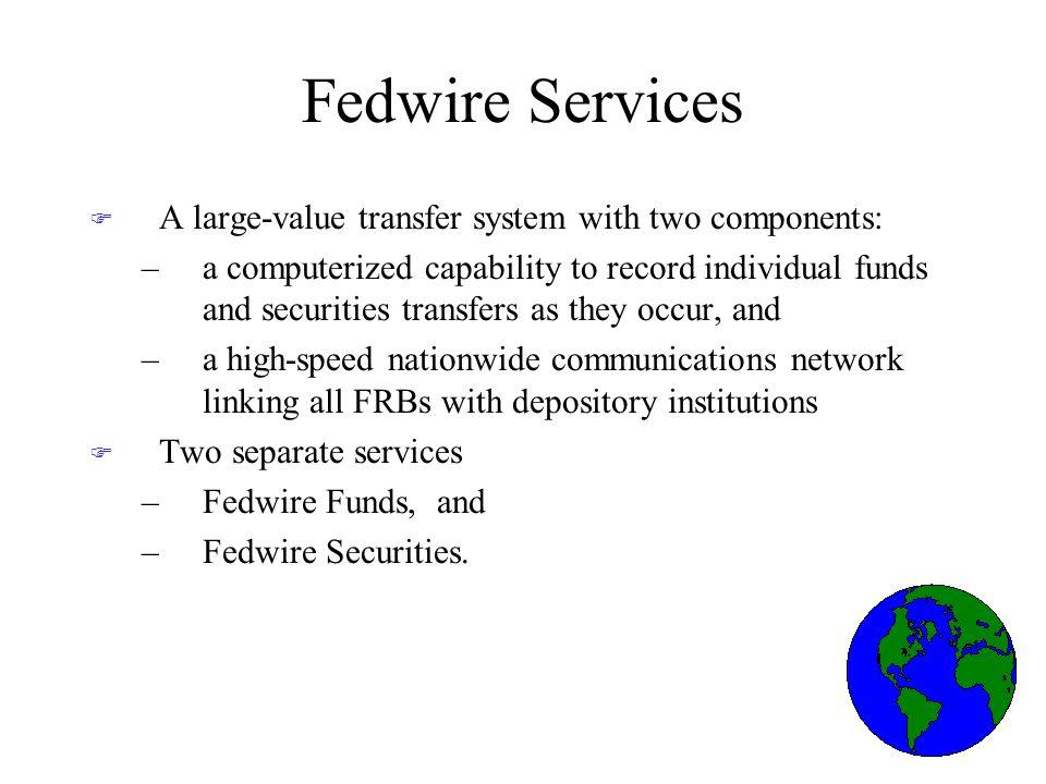 Fedwire Funds Services Fedwire Funds Service.
