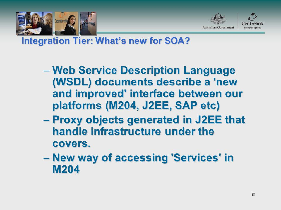 18 Integration Tier: Whats new for SOA.