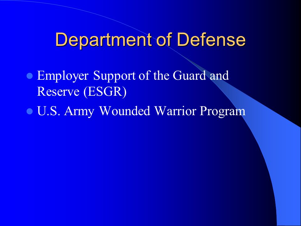 Department of Defense Employer Support of the Guard and Reserve (ESGR) U.S.