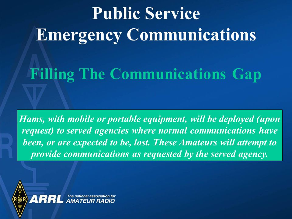 Emergency Communications Training Radio Clubs Instructors and Examiners ARRL Field Organization