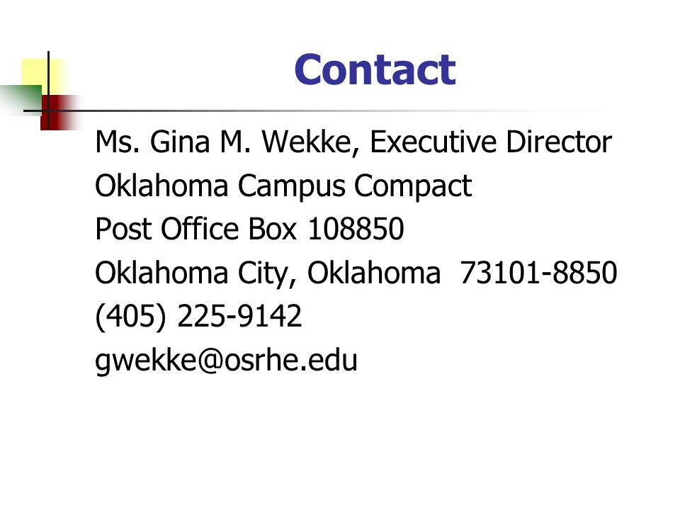 Contact Ms. Gina M.