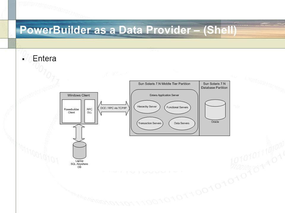 PowerBuilder as a Data Provider – (Shell) Entera