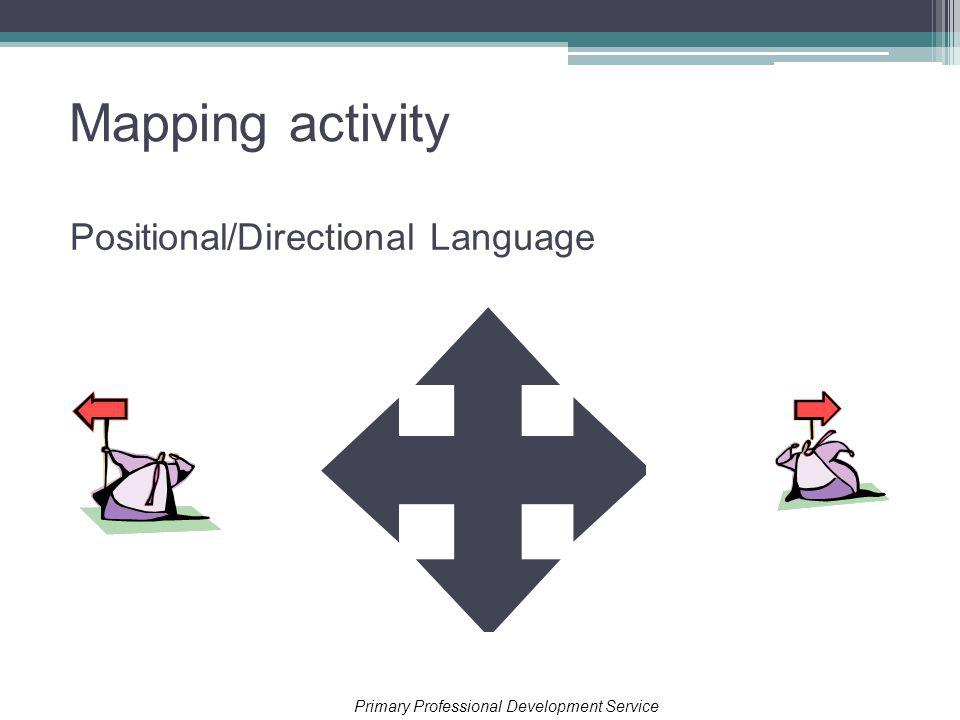 Mapping activity Positional/Directional Language Primary Professional Development Service