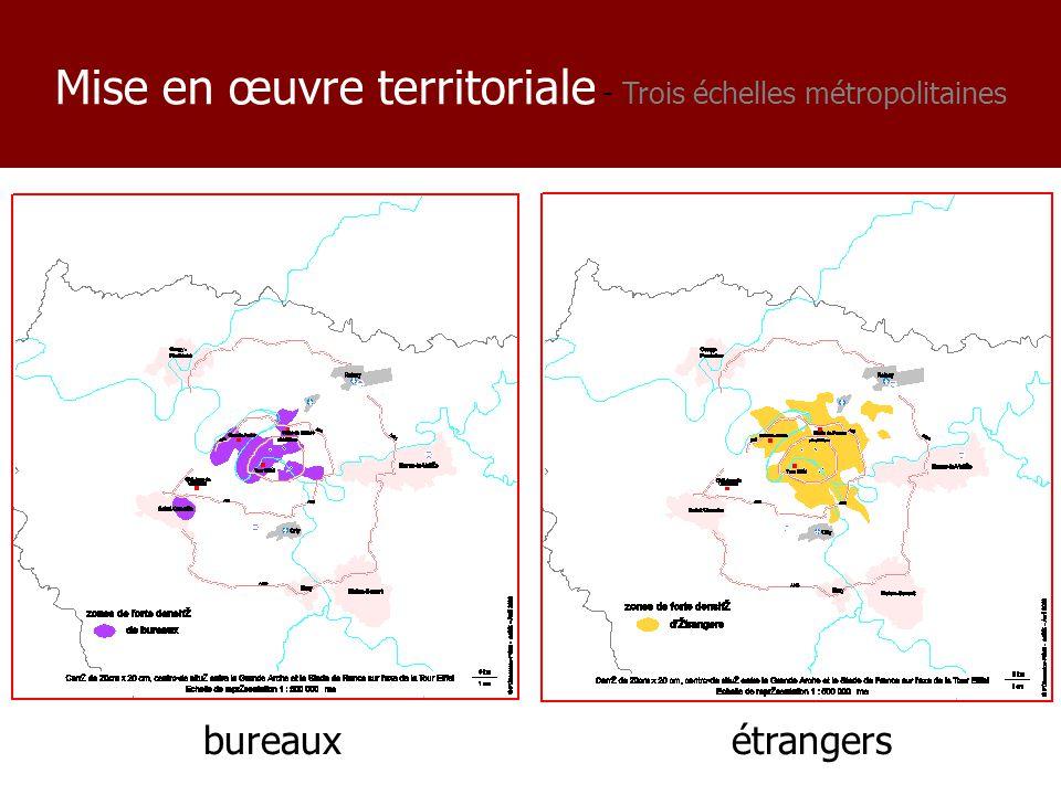 bureauxétrangers Mise en œuvre territoriale - Trois échelles métropolitaines