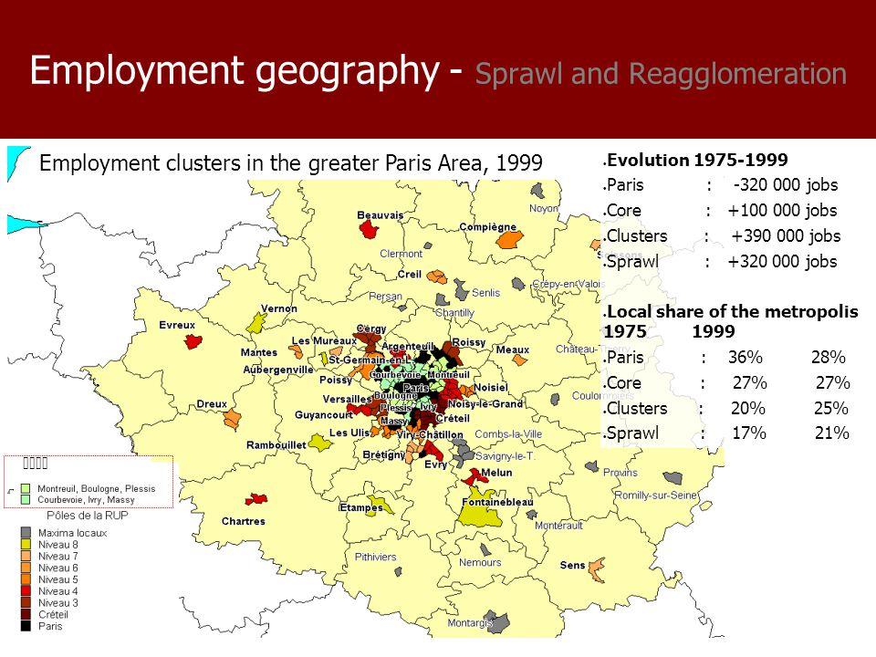 Employment dynamics – Sprawl AND Reagglomeration