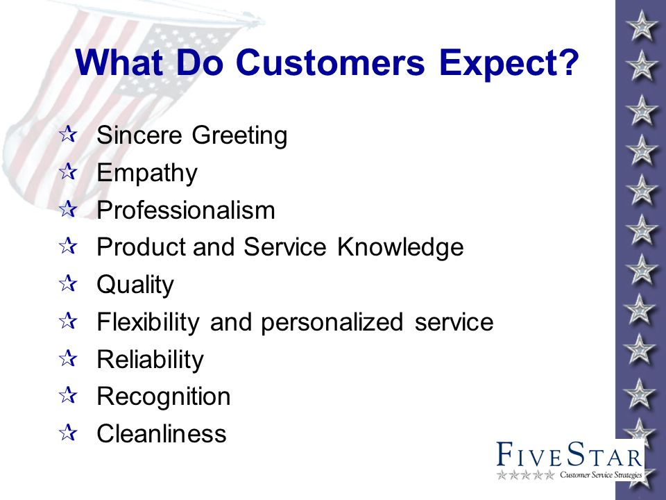 What Do Customers Expect.