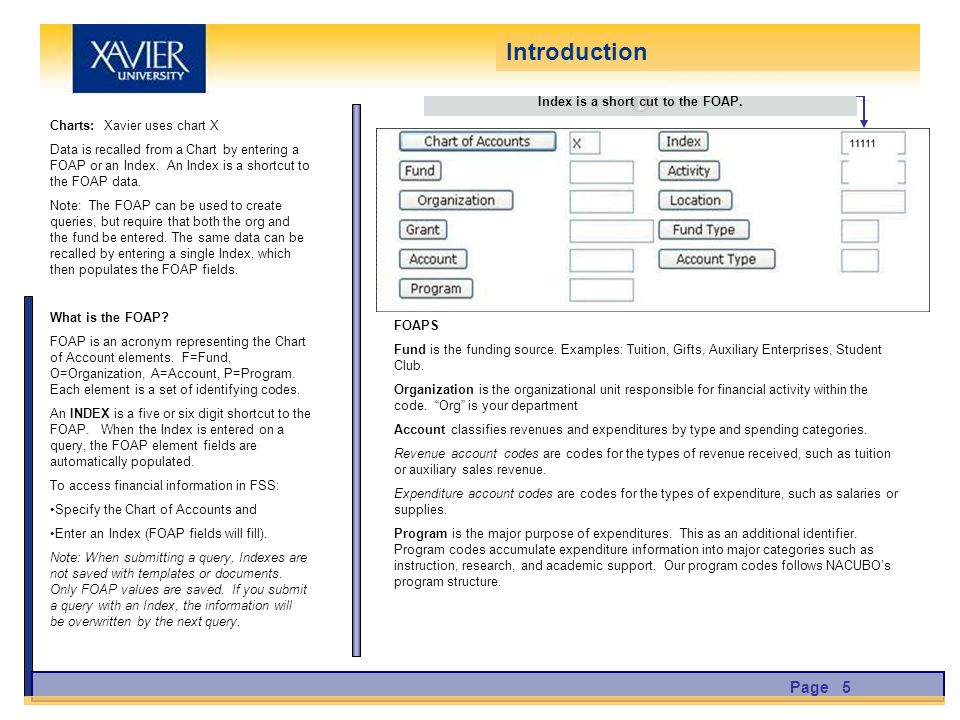 Charts: Xavier uses chart X Data is recalled from a Chart by entering a FOAP or an Index.