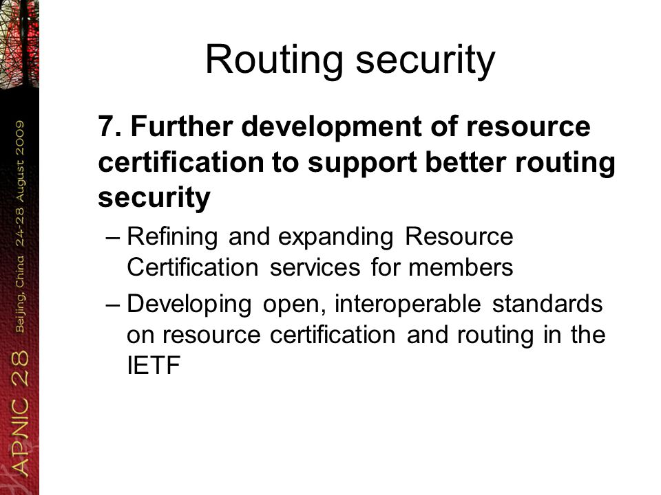 Routing security 7.
