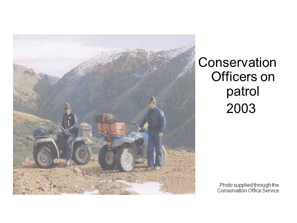 Conservation Officers on patrol 2003 Photo supplied through the Conservation Office Service