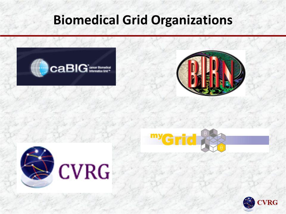 CVRG Biomedical Grid Organizations