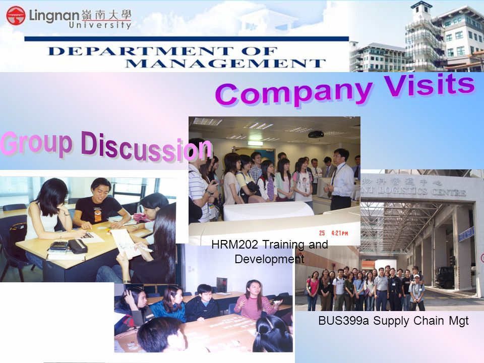 BUS399a Supply Chain Mgt HRM202 Training and Development