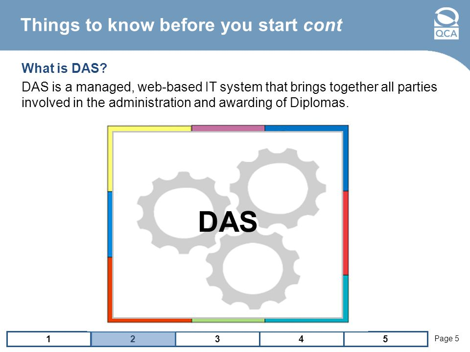 12543 Page 5 Things to know before you start cont What is DAS.