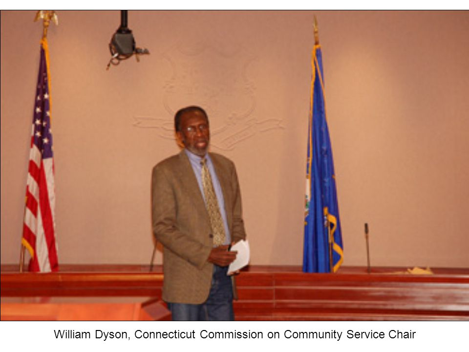 William Dyson, Connecticut Commission on Community Service Chair