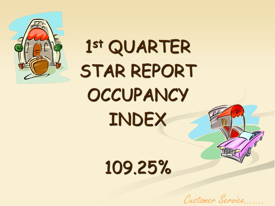 INCREASE OF 15.28%OVER 1 st QUARTER 2005 Customer Service…....