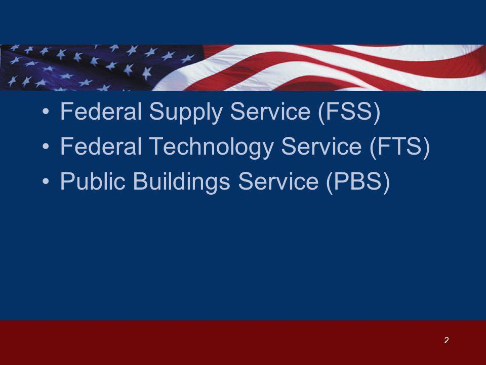 GSA Federal Supply Service DOING BUSINESS WITH GSA FEDERAL SUPPLY SERVICE
