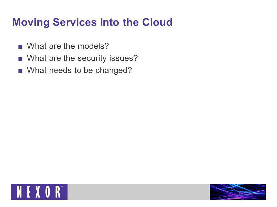 The NIST Definition of Cloud Computing V15 Cloud computing displays a number of attributes: On-demand self-service Broad network access Resource pooling Rapid elasticity Measured service Can be delivered in the following deployment models: Public cloud Private cloud Community cloud Hybrid cloud Supports the following service models: Software as a Service (SaaS) Platform as a Service (PaaS) Infrastructure as a Service (IaaS) http://csrc.nist.gov/groups/SNS/cloud-computing/cloud-def-v15.doc