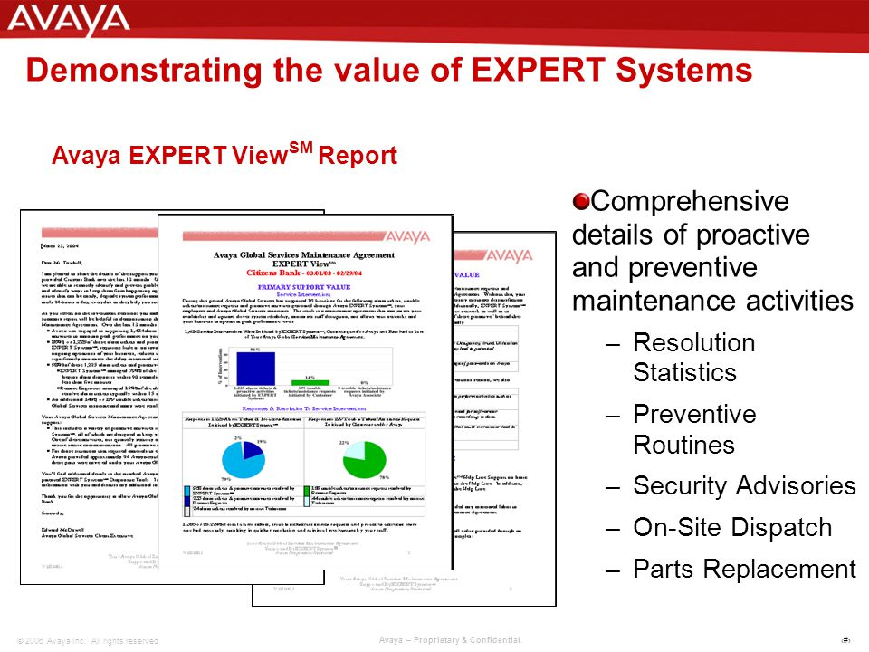 3 © 2006 Avaya Inc. All rights reserved. Avaya – Proprietary & Confidential.