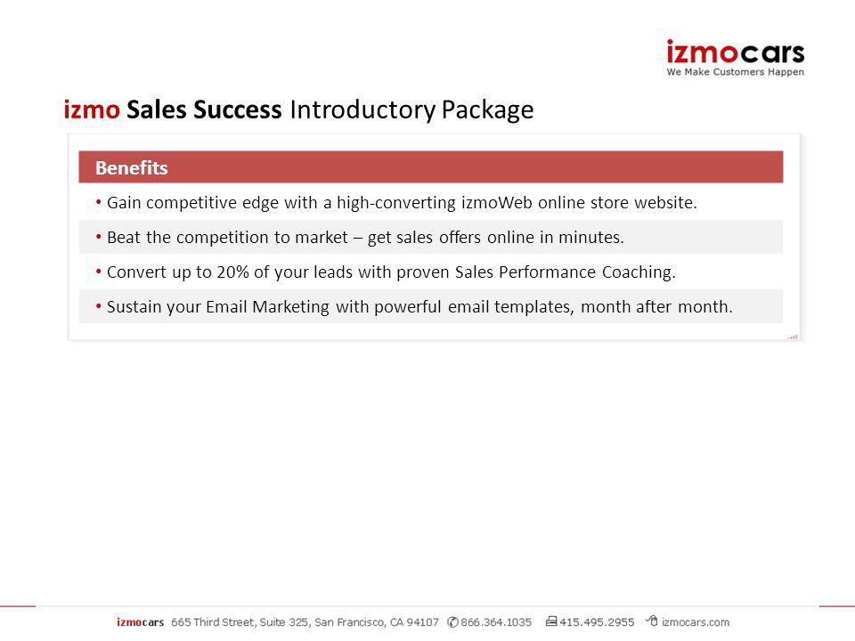 Benefits Gain competitive edge with a high-converting izmoWeb online store website.