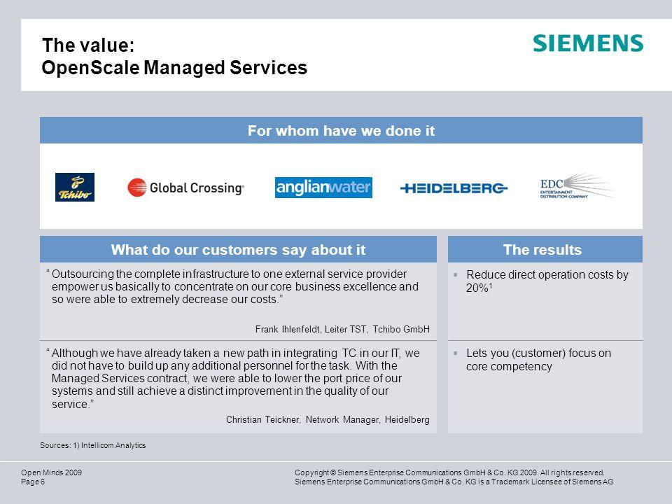 Page 17 Copyright © Siemens Enterprise Communications GmbH & Co.