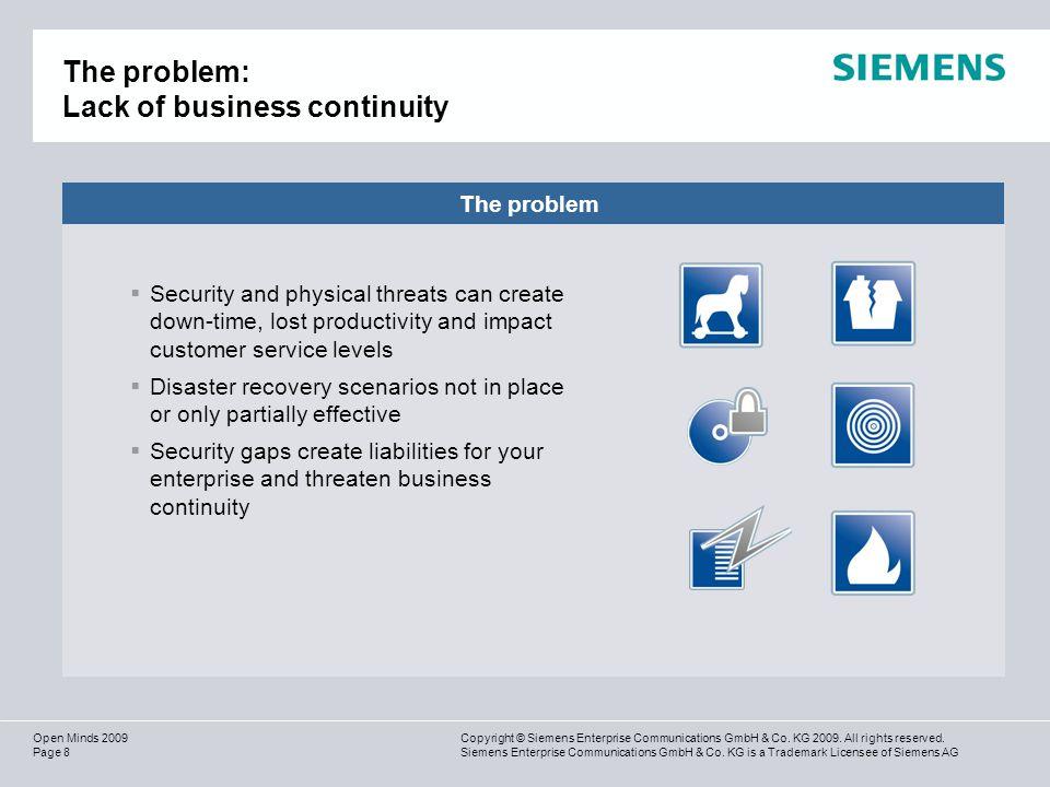 Page 9 Copyright © Siemens Enterprise Communications GmbH & Co.