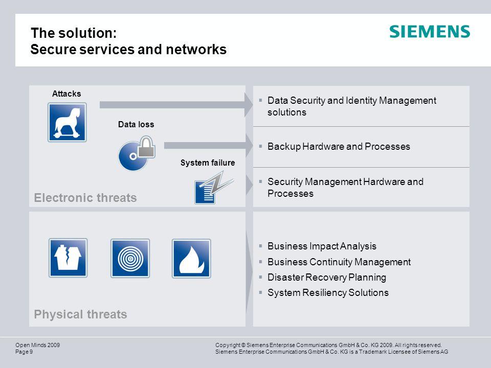 Page 10 Copyright © Siemens Enterprise Communications GmbH & Co.
